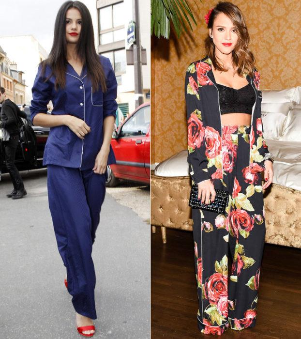 mujeres con conjunto de pijama