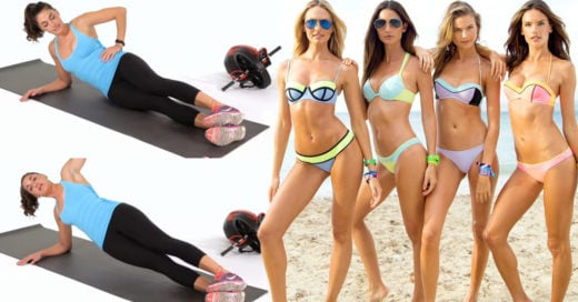 10 ejercicios para lograr una cintura de modelo de 'Victoria's Secret'