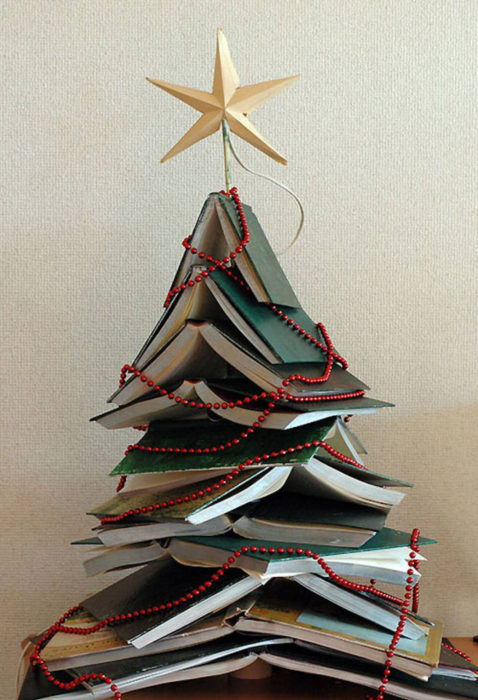 árbol que puedes hacer en 15 minutos con libros