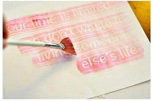 carta con crayola blanca