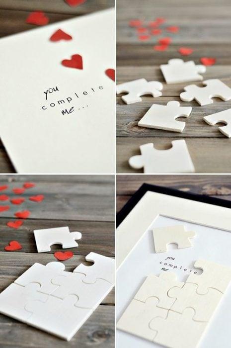 carta en rompecabezas