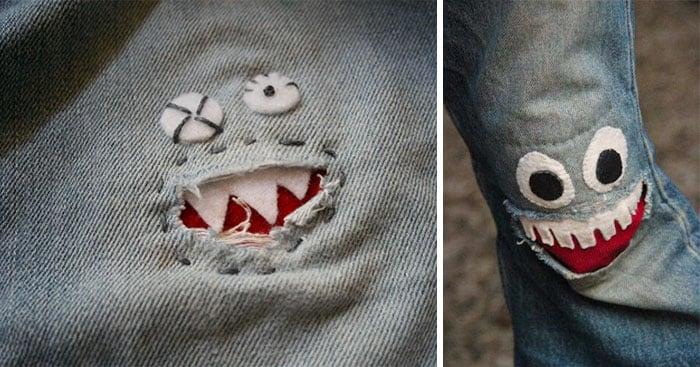 Solucion rápida para los pantalones rasgados