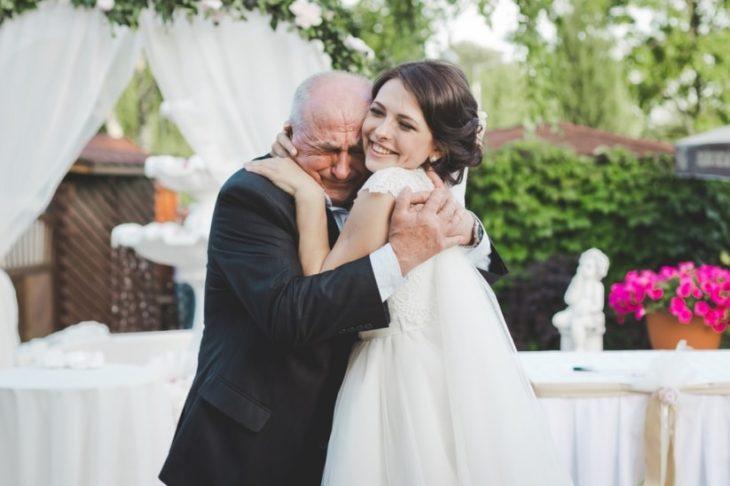 papá e hija en boda