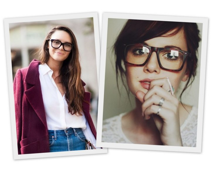diferentes chicas con lentes