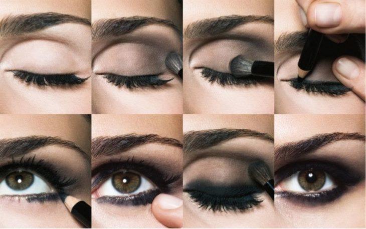 aplicar efecto smokey eyes