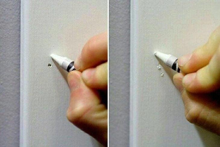 crayola blanca tapando agujeros