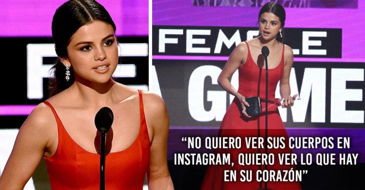 Discurso de Selena gomez en una entrega de premios