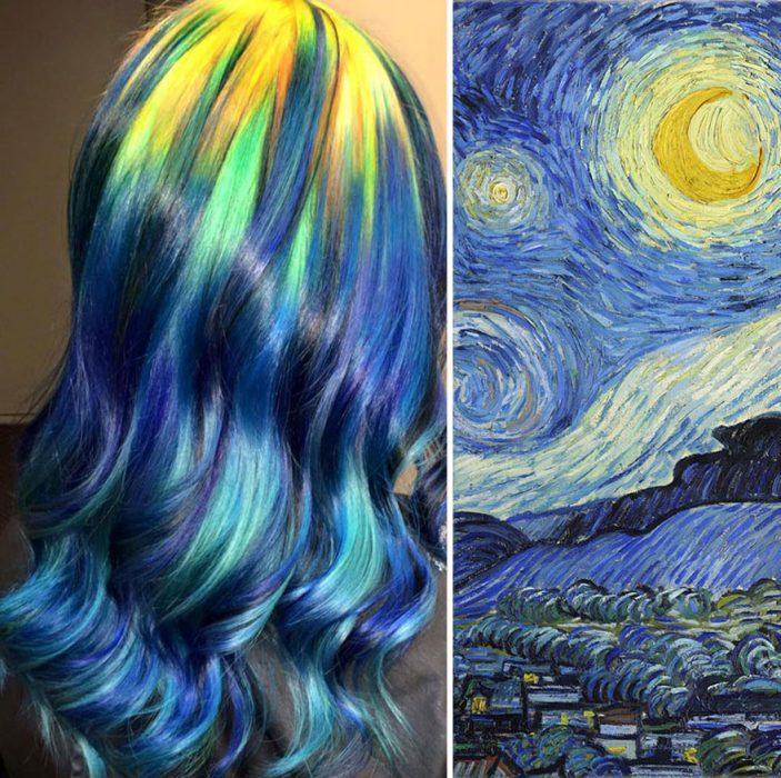 Obra de arte en el cabello