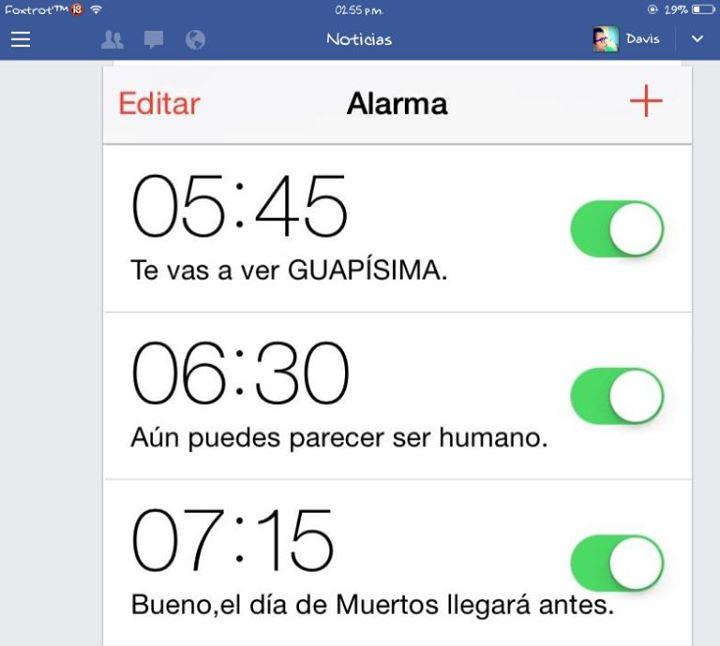 alarmas multiples en telefono