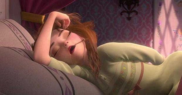 elsa dormida profundamente