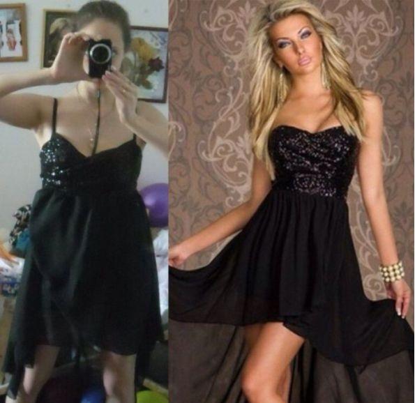 vestido negro y sexy