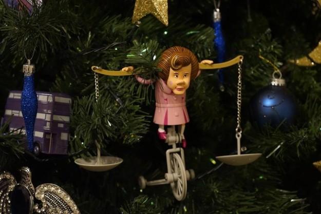 Decoración de un árbol de navidad al estilo Harry Potter