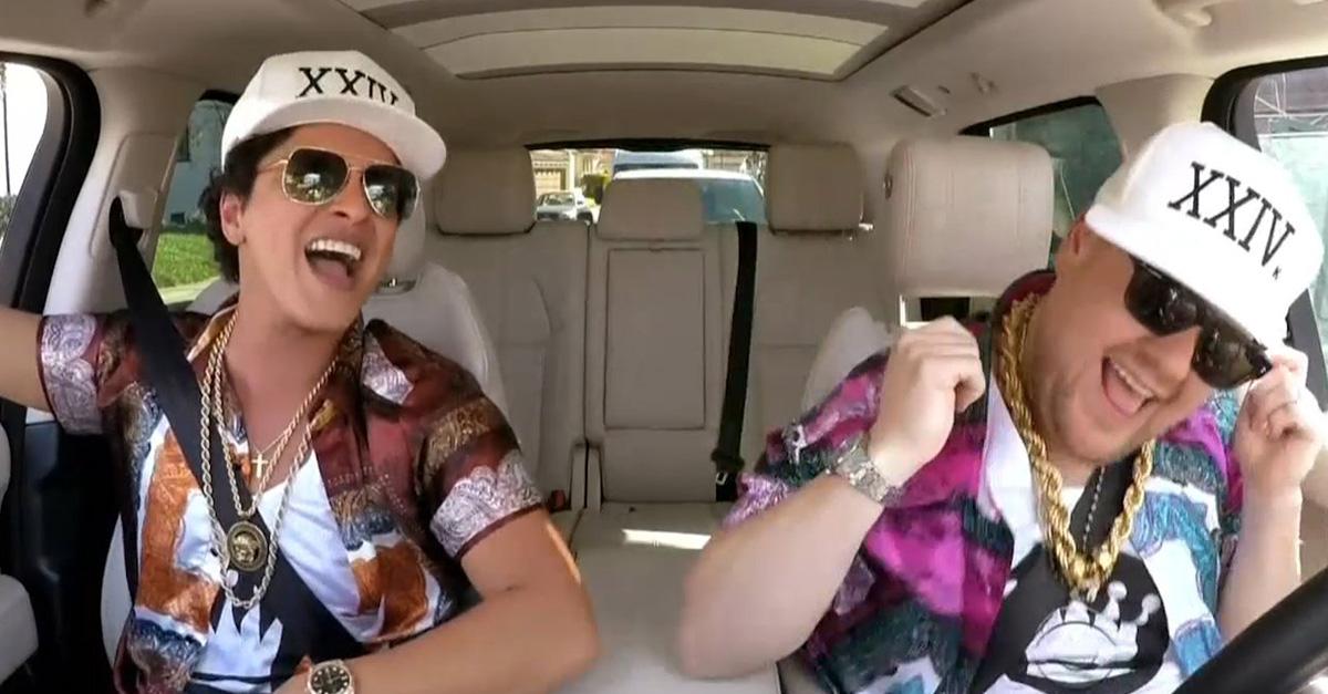 Bruno Mars nos dio 15 minutos de risas en Carpool Karaoke