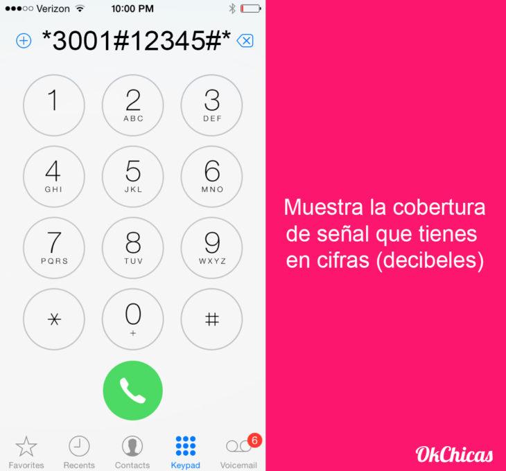 Teclado de iphone con códigos secretos para el celular