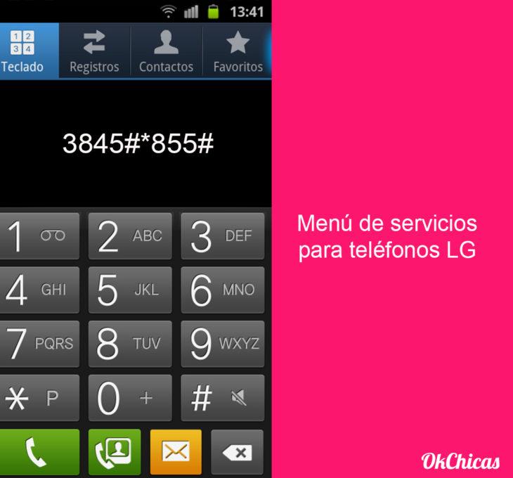 Teclado de android con códigos secretos para el celular