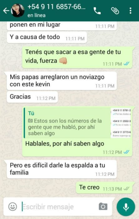 capturas de pantalla de whatsapp