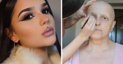 Chica comparte tutorial de maquillaje a pacientes con quimioterapia y es lo más inspirador que verás hoy