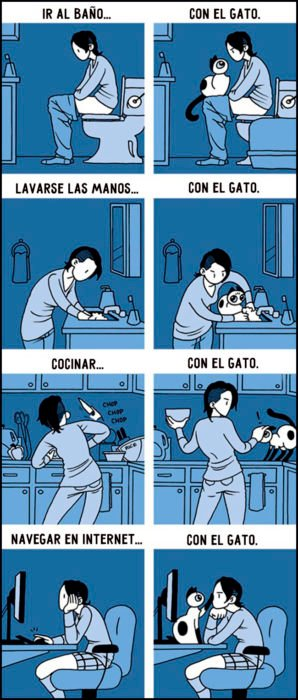 Cómic de la vida con un gato