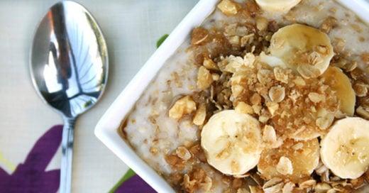 Desayuna avena para que bajes esa pancita postnavideña