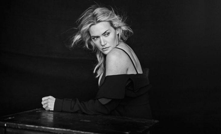 Kate Winslet durante una sesión de fotos para el calendario Pirelli 2017