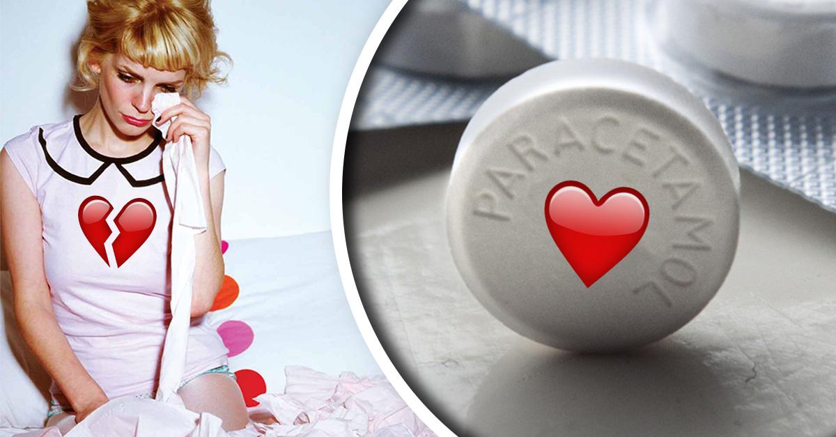 El corazón roto se cura con paracetamol