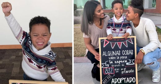 Este niño finalmente fue adoptado; su adorable reacción ha conmovido a todo Internet