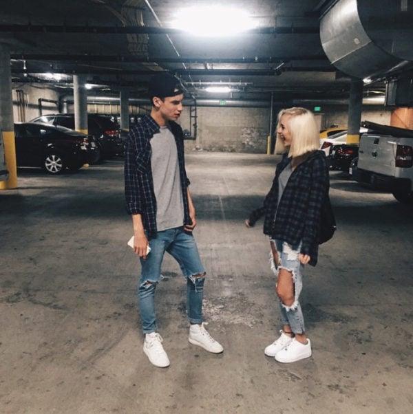 Jeans y franela