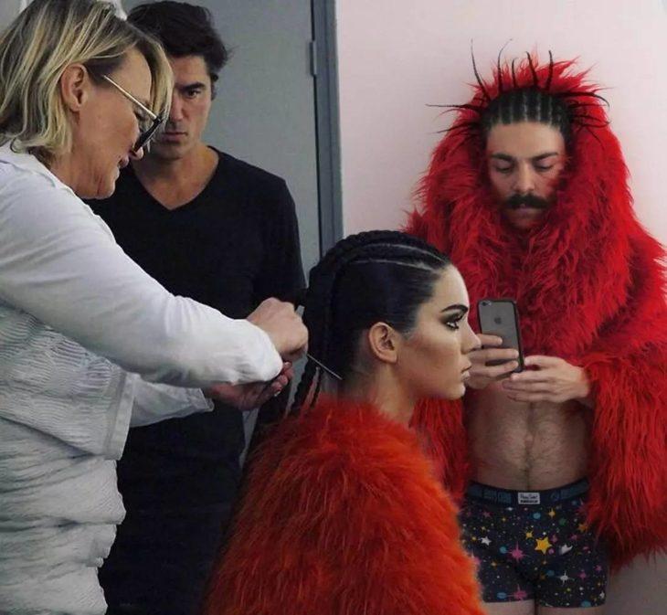 Kirby y Kendall Jenner antes de modelar