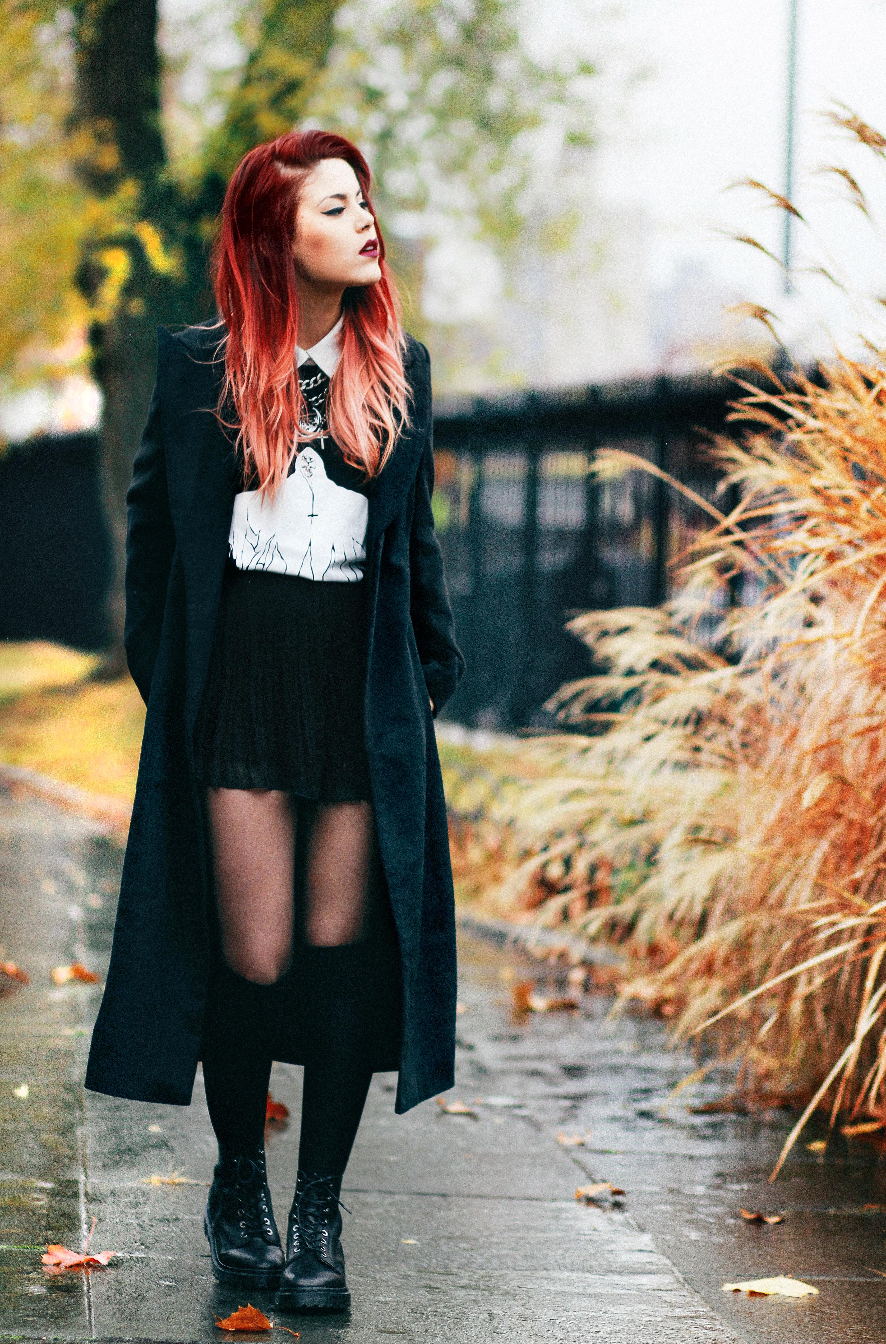 good outfit grunge falda women
