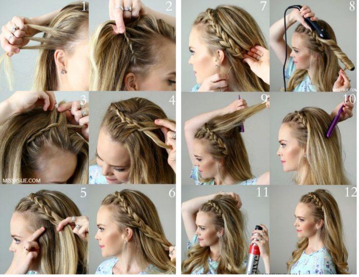 peinado sencillo para navidad