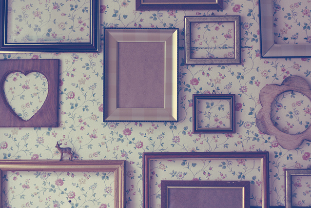 Porta retratos en la pared