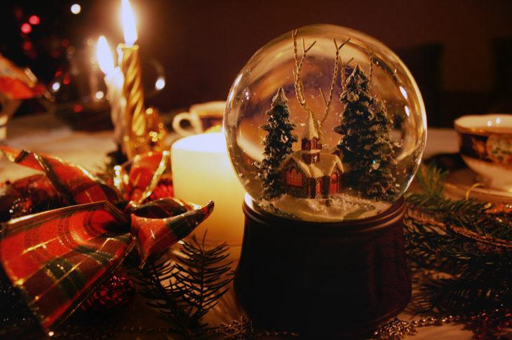 Globo de nieve navideño