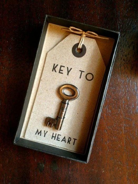 Llavero con una llave de tu corazón