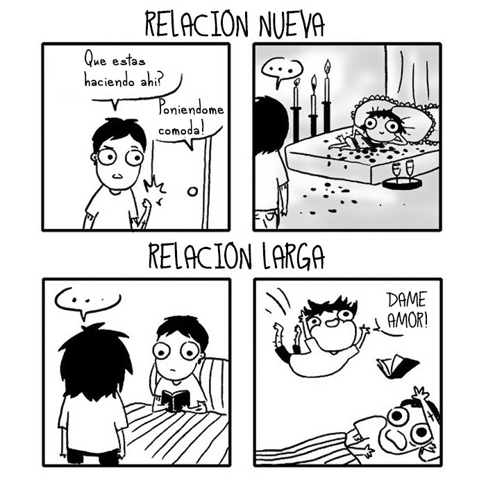 Ilustración de una relación nueva vs. una relación larga
