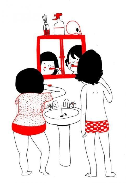 Ilustración de pareja