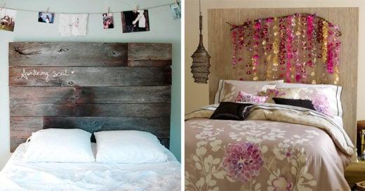 Renueva tu habitación con estas ideas para tu cabecera