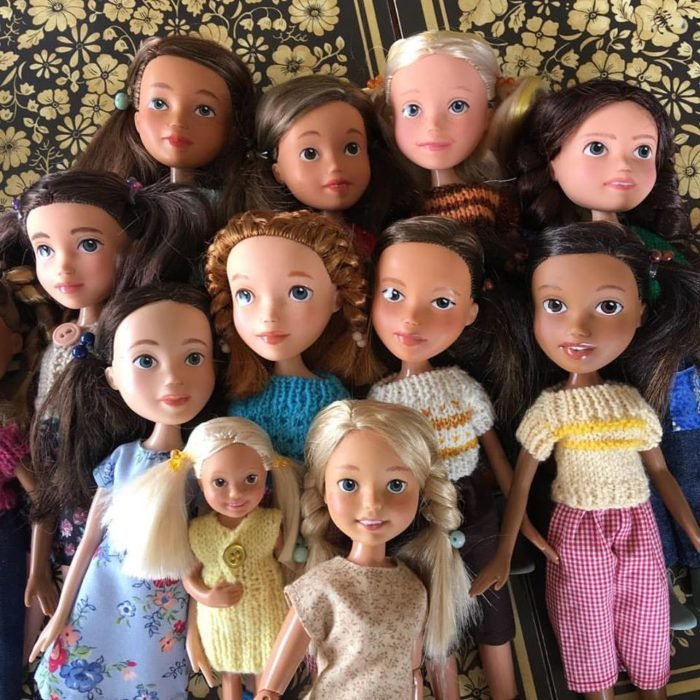 Muñecas de segunda mano re diseñadas