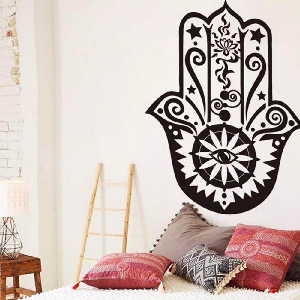 20 formas de renovar tu habitaci n con poco dinero - Plantillas pared ...