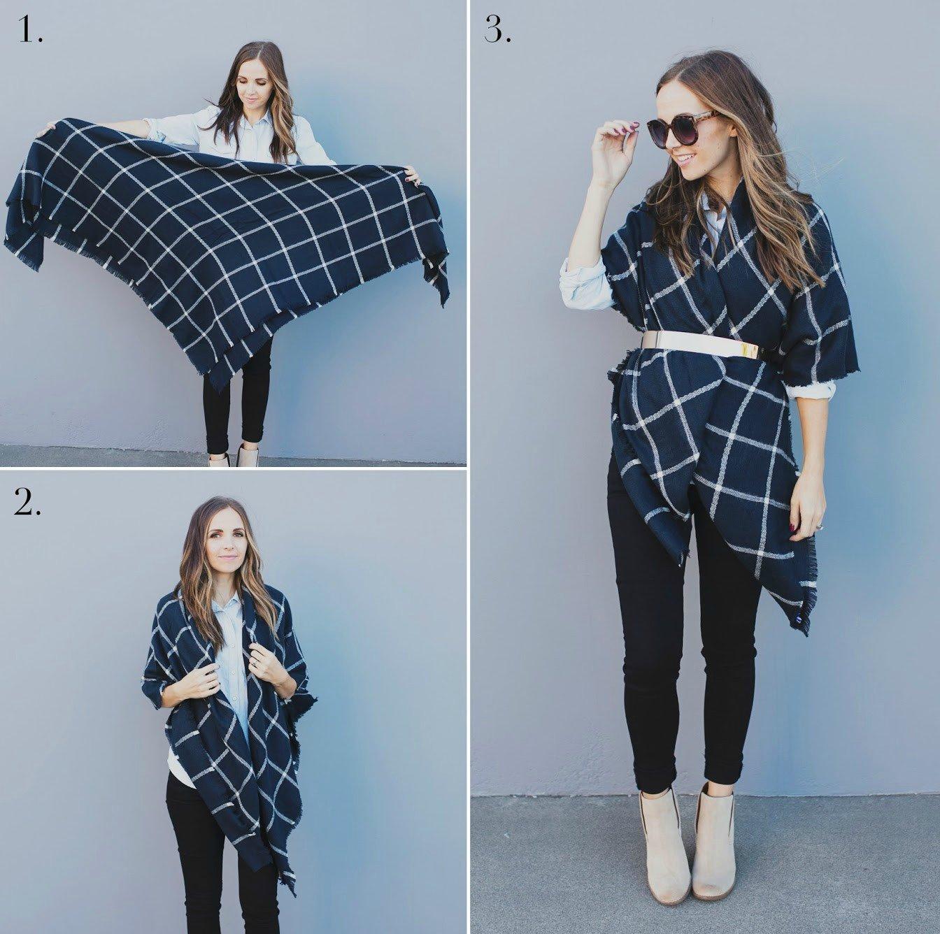 15 ideas para sacarle provecho a tus bufandas en invierno. Black Bedroom Furniture Sets. Home Design Ideas