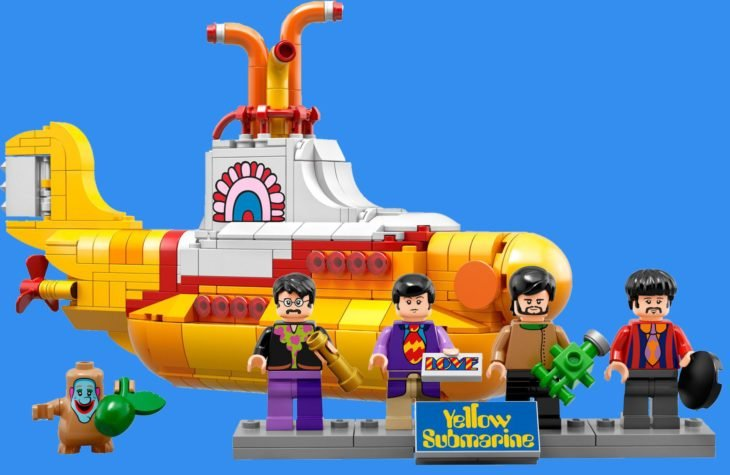 figura de submarino amarillo lego