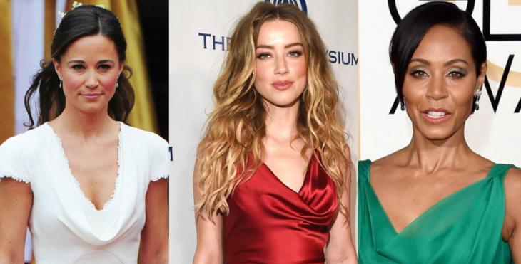 collage de mujeres con escote caido y tres peinados diferentes