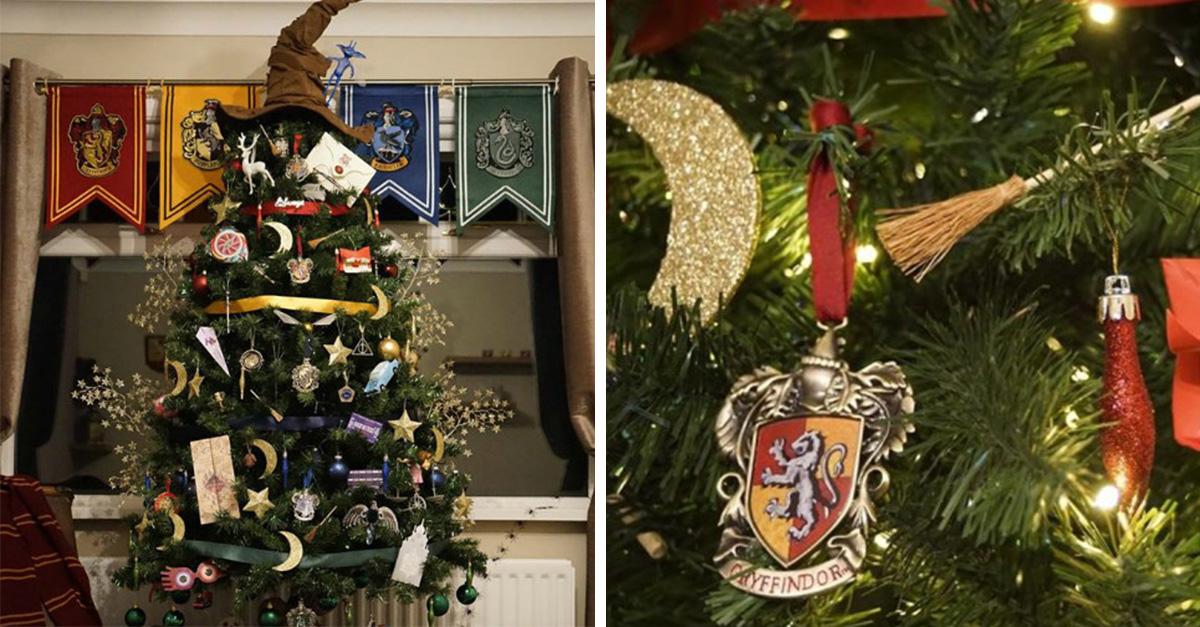 Tú también desearás tener este mágico árbol de Harry Potter
