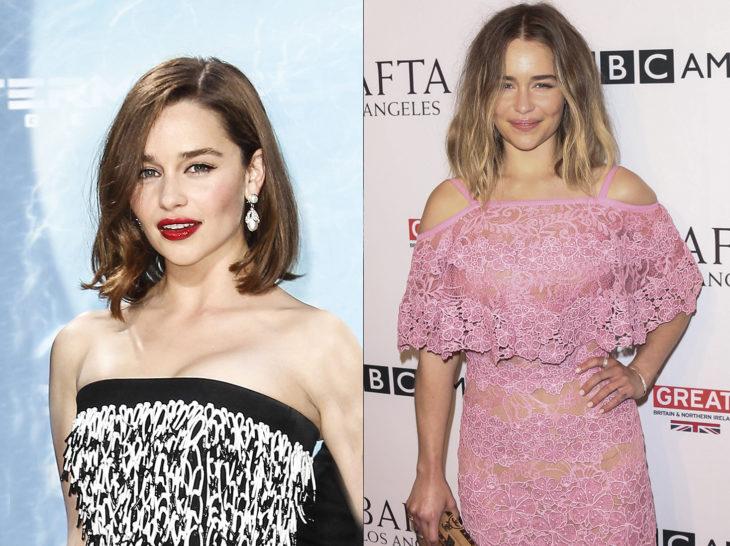 Emilia clark con un cambio de look
