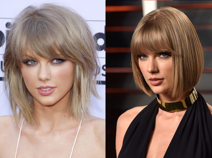Taylor Swift con un cambio de look