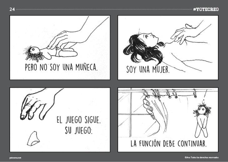 ilustración de de mujer siendo abusada