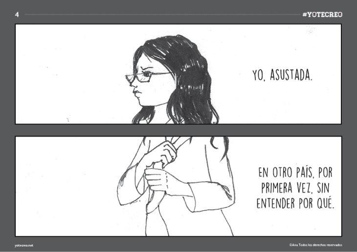 ilustración de mujer caminando sola