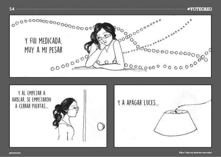 ilustración de mujer sentada pensando