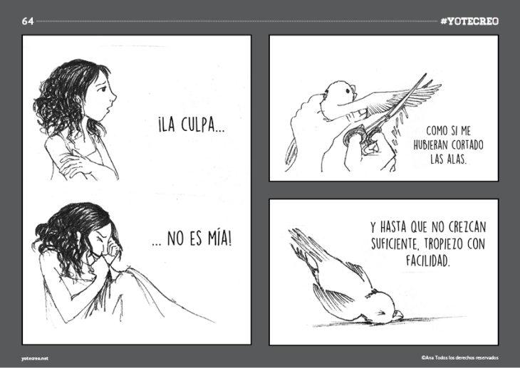 ilustración de chica en la cama llorando