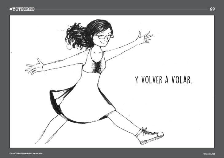 ilustración de mujer caminando