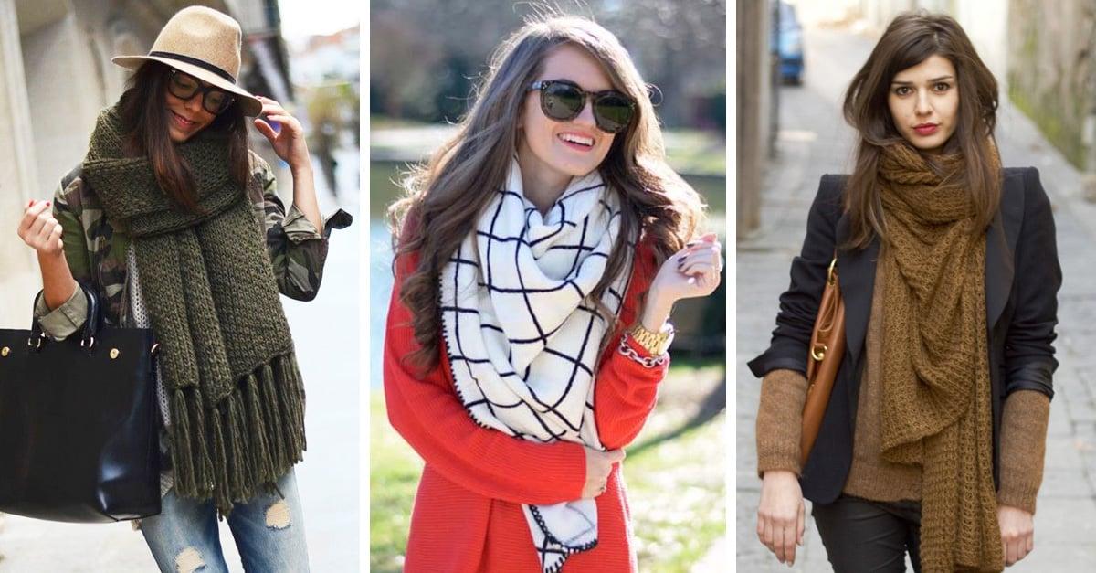 15 ideas para sacarle provecho a todos los estilos de bufanda en tu clóset